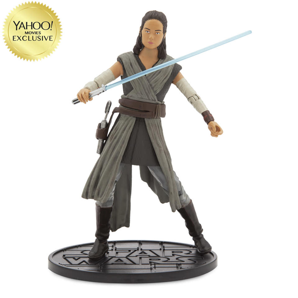 """<p>""""Survivor Rey faces a new set of challenges but she's armed with her blue lightsaber."""" $26.95/DisneyStore.com (Photo: Disney Store) </p>"""