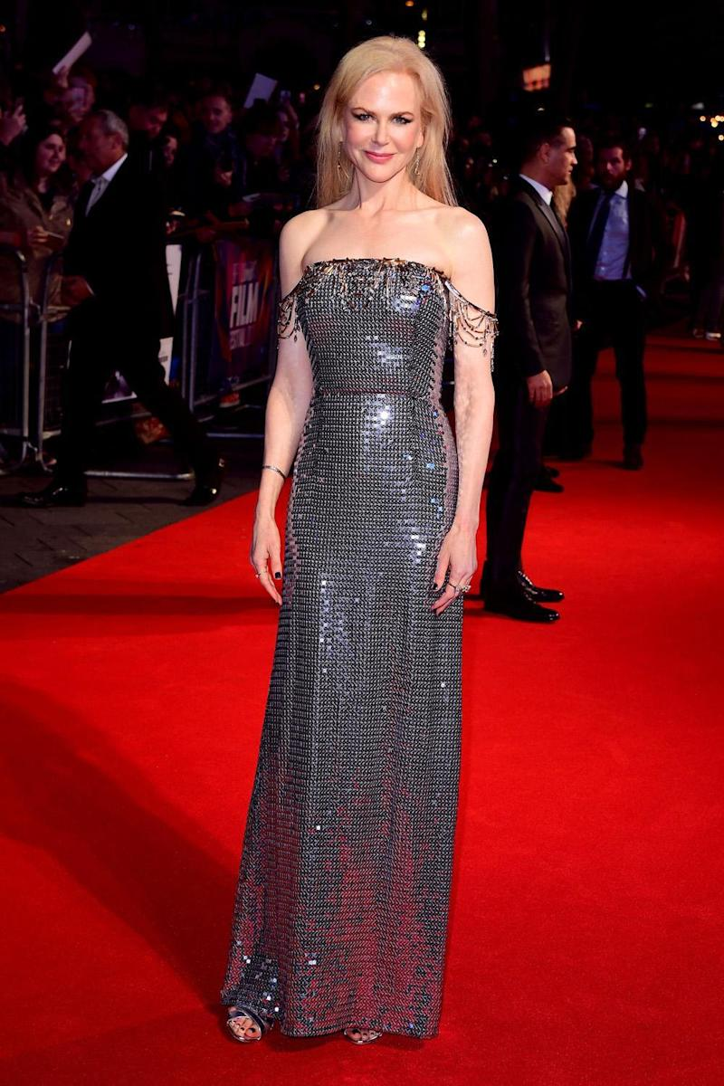 Ruling the red carpet: Nicole Kidman at the London Film Festival (PA)