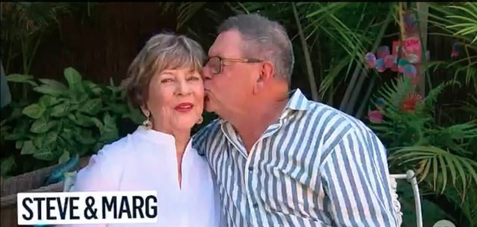 Steve Price kisses his mum on the cheek