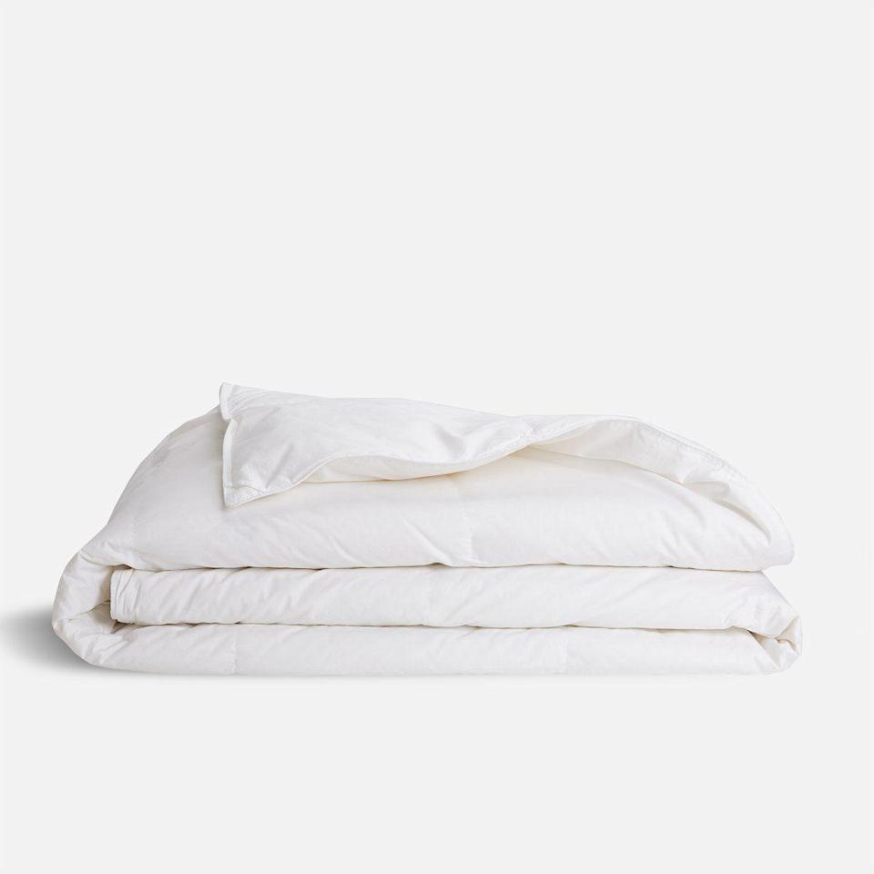 "<p><strong>Brooklinen</strong></p><p>brooklinen.com</p><p><strong>$224.10</strong></p><p><a href=""https://go.redirectingat.com?id=74968X1596630&url=https%3A%2F%2Fwww.brooklinen.com%2Fproducts%2Fdown-alternative-comforter&sref=https%3A%2F%2Fwww.esquire.com%2Flifestyle%2Fg36039315%2Fgraduation-gifts-for-her%2F"" rel=""nofollow noopener"" target=""_blank"" data-ylk=""slk:Buy"" class=""link rapid-noclick-resp"">Buy</a></p><p>She'll be wanting an upgrade from her dorm and off-campus bedding; she'll be wanting a Brooklinen all-season comforter. </p>"