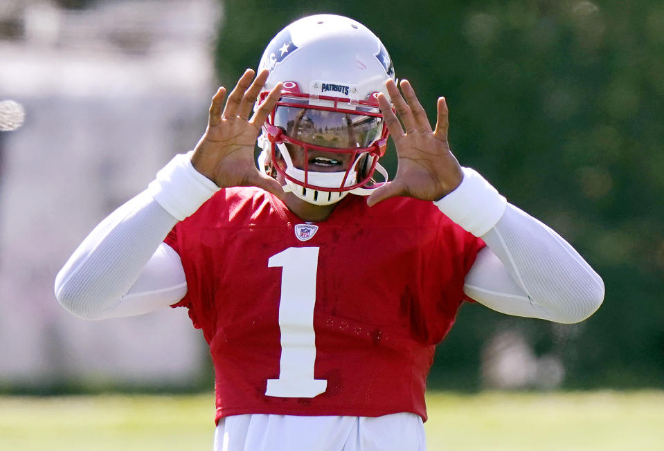 Cam Newton #1 of the New England Patriots