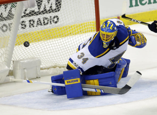 Jake Allen has had a rough start to the Fantasy Hockey season. (AP Photo/Lynne Sladky)