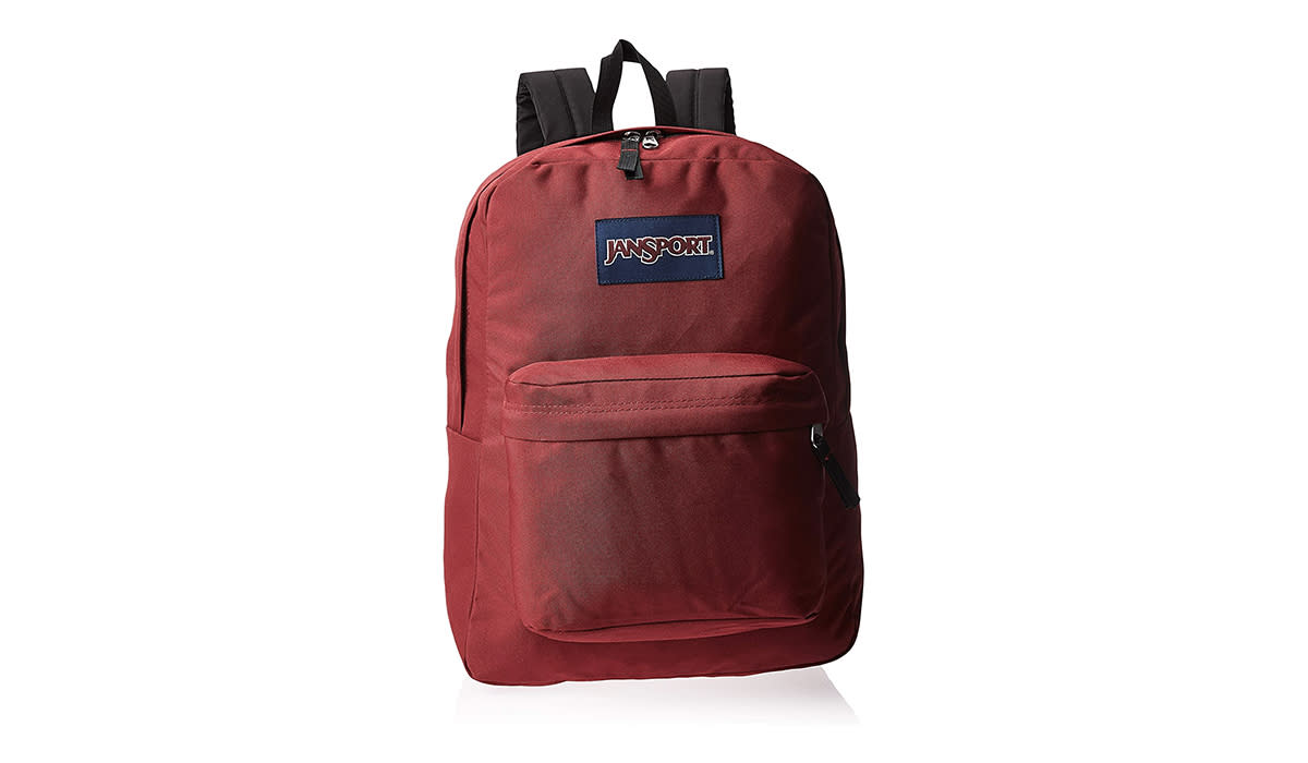 Who could resist a classic Jansport in this bright red? (Photo: Amazon)