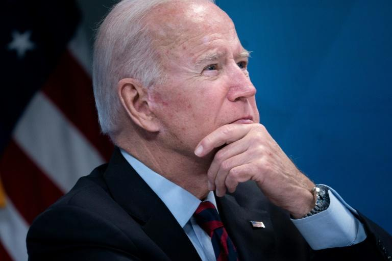 US President Joe Biden, pictured August 30, 2021, has unsuccessfully pressed to wind down the Afghanistan war while serving as vice president under Barack Obama (AFP/Brendan Smialowski)