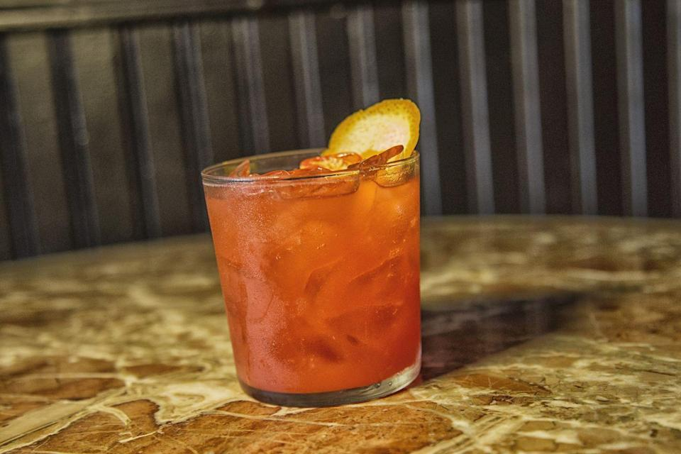 <p>Though this is an Italian classic, the Sanguinello is named after a sensational Spanish orange variety. This beverage is a great choice in early spring when you can find fresh blood oranges in season, but it's also excellent for summer where a bottled juice will do.</p><p><strong>Ingredients:</strong></p><p>1 ounce Pallini Limoncello</p><p>1 ounce Campari</p><p>1 ounce blood orange juice</p><p>Orange peel, for garnish</p><p>Ice cubes</p><p><strong>Directions:</strong></p><p>Shake all ingredients and strain over fresh ice. Garnish with an orange peel</p><p><em>Courtesy of Italian Trade Agency.</em></p>