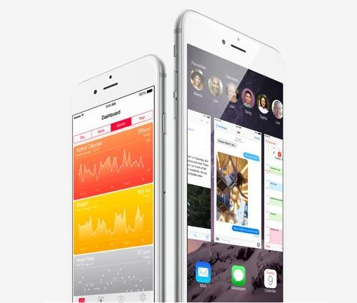 iPhones displaying HealthKit and HomeKit apps