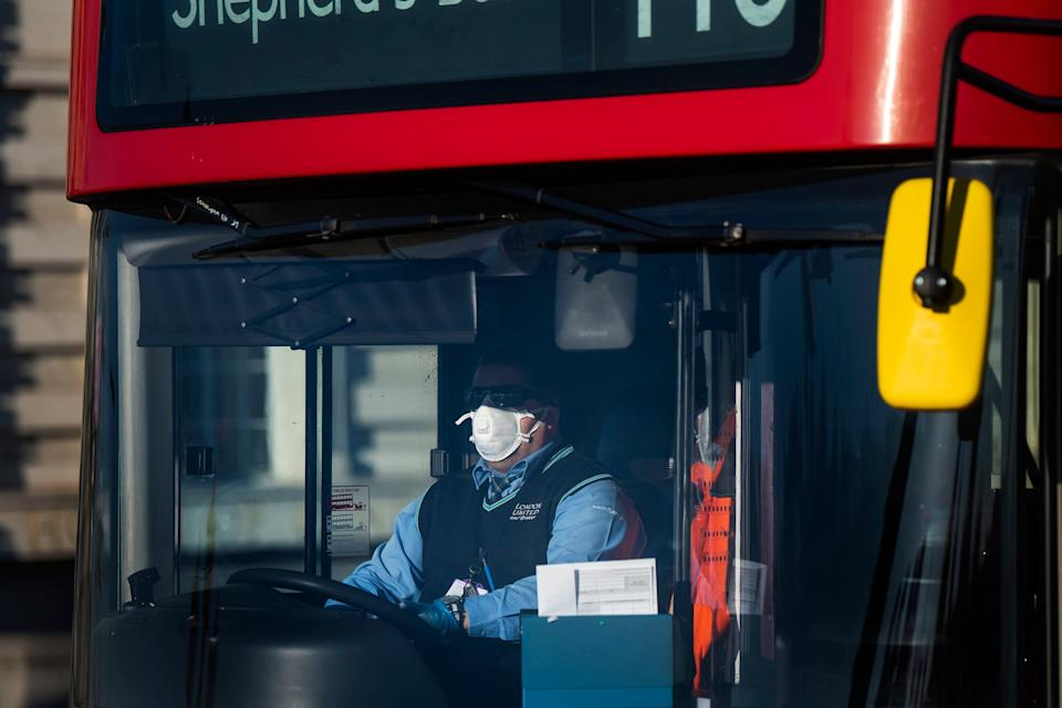 <p>The total figure, up three from 57 revealed earlier this week, includes staff working for the private bus firms contracted by Transport for London</p> (PA)
