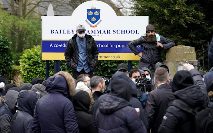 Batley Grammar School protests