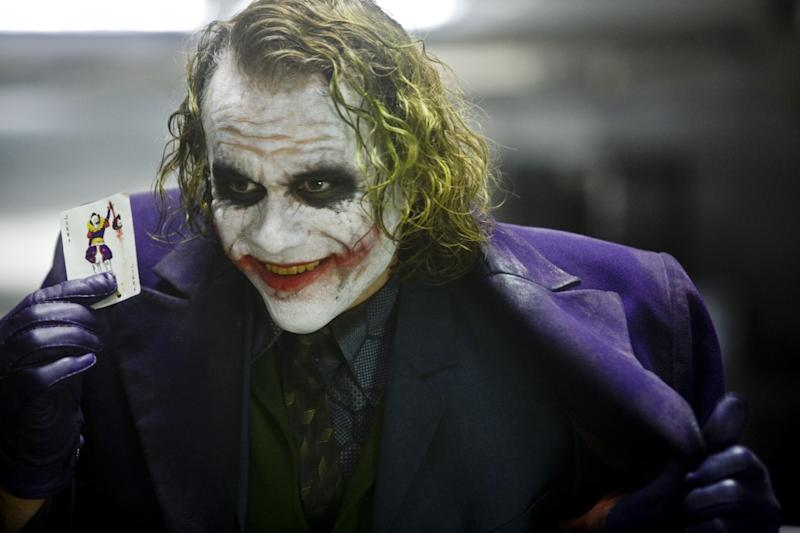 Heath Ledger as Joker in The Dark Knight. (Warner Bros.)