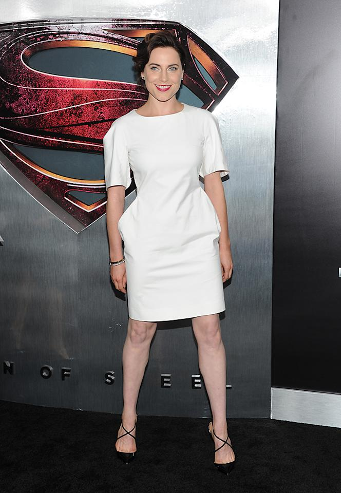 "Actress Antje Traue attends the ""Man Of Steel"" world premiere at Alice Tully Hall on Monday, June 10, 2013 in New York. (Photo by Evan Agostini/Invision/AP)"