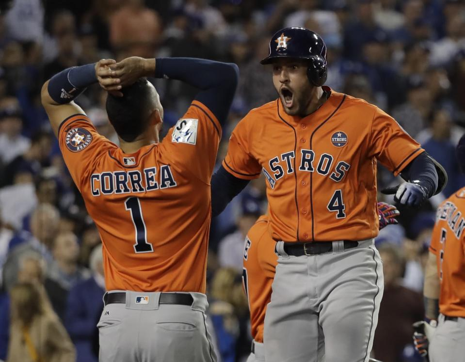 George Springer overcame a rough Game 1 to win World Series MVP. (AP Photo/David J. Phillip)
