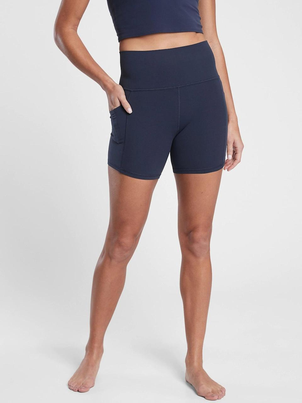 <p>These <span>Athleta Salutation Stash Pocket Shorts</span> ($59) are made in a stretchy fabric, while the side pockets offer storage for your keys or small cardholder.</p>