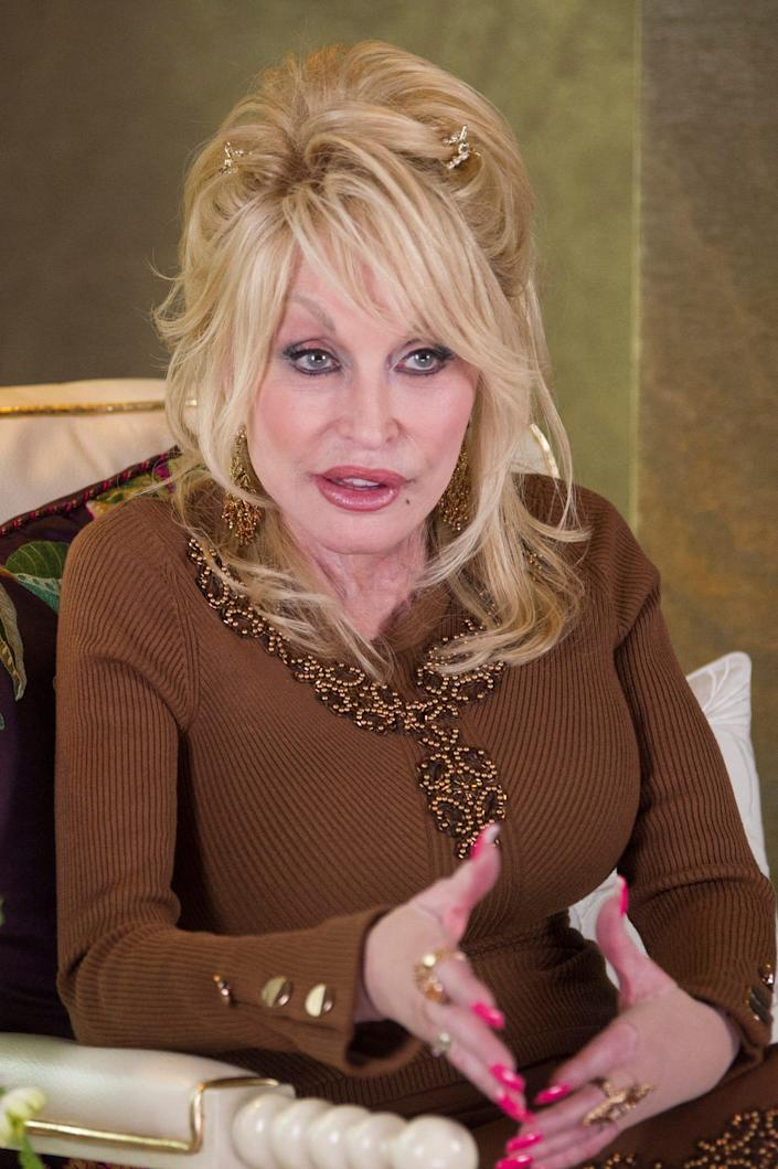 Dolly Parton gives an exclusive interview to the News Sentinel in her suite at Dollywood's DreamMore resort, Wednesday, May 12, 2021.