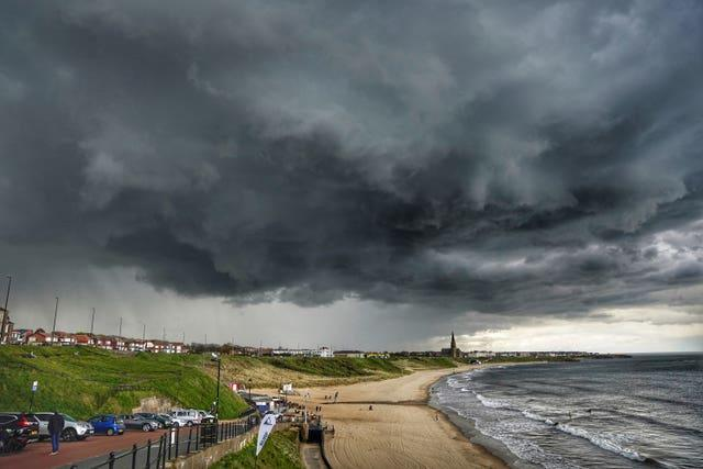 Storm clouds over the coast
