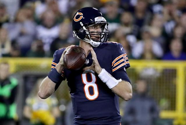Mike Glennon had a 1-3 record in four starts at quarterback for the Chicago Bears. (Photo by Jonathan Daniel/Getty Images)