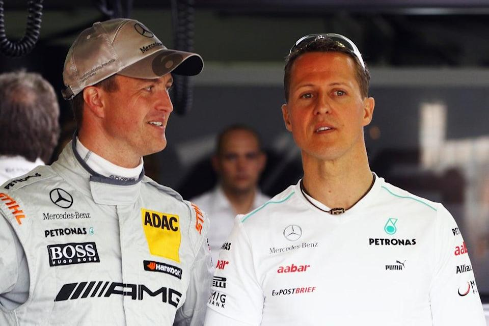 Ralf and Michael Schumacher raced together in the Formula 1 (Bongarts/Getty Images)