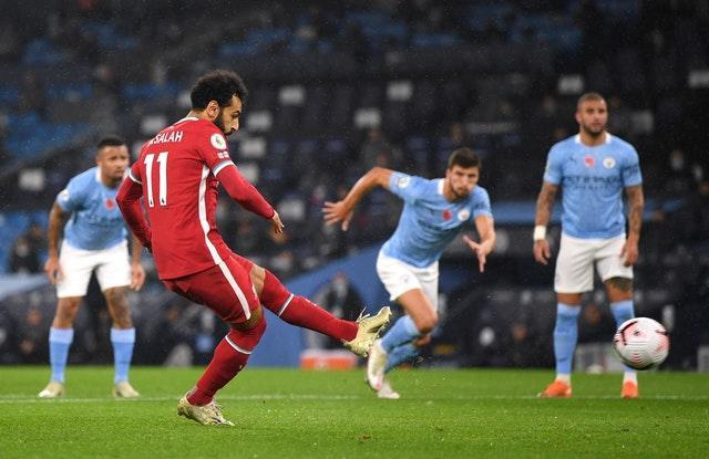 Mohamed Salah put Liverpool ahead from the penalty spot