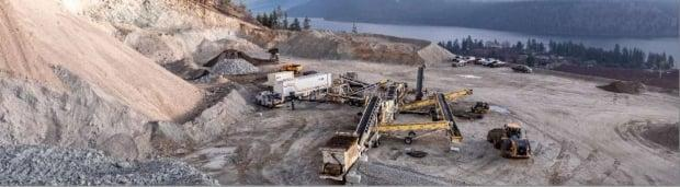 The Joe Rich quarry project was proposed by Westbridge Rock Ventures, which operates four quarries across the Okanagan, including this one in Oyama, B.C. (Westridge Rock Ventures - image credit)