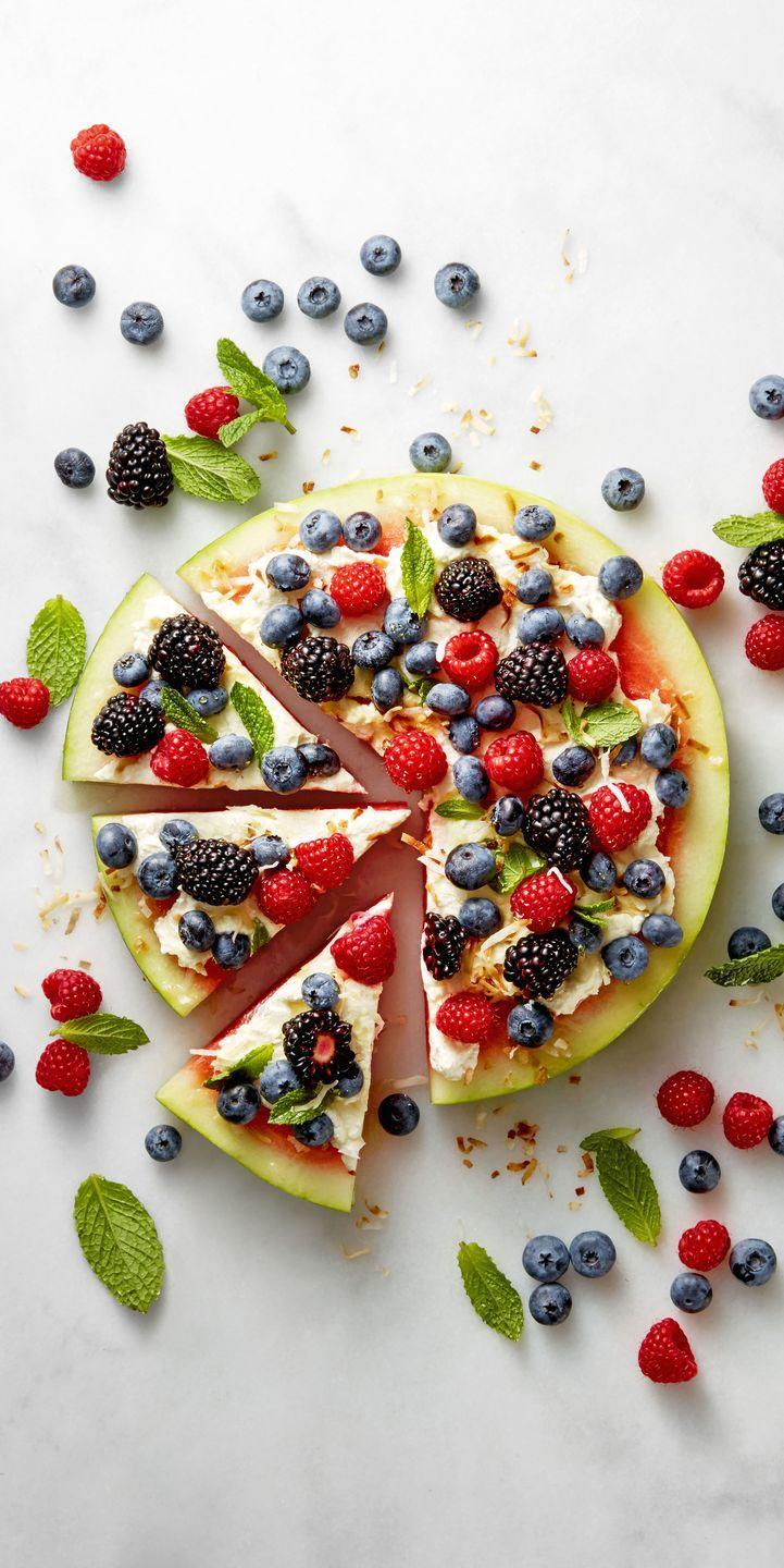 """<p>It's not delivery, it's fruit pizza — and you don't even have to cook anything either. </p><p><em><a href=""""https://www.goodhousekeeping.com/food-recipes/a39347/watermelon-pizza-recipe/"""" rel=""""nofollow noopener"""" target=""""_blank"""" data-ylk=""""slk:Get the recipe for Watermelon Pizza »"""" class=""""link rapid-noclick-resp"""">Get the recipe for Watermelon Pizza »</a></em> </p>"""