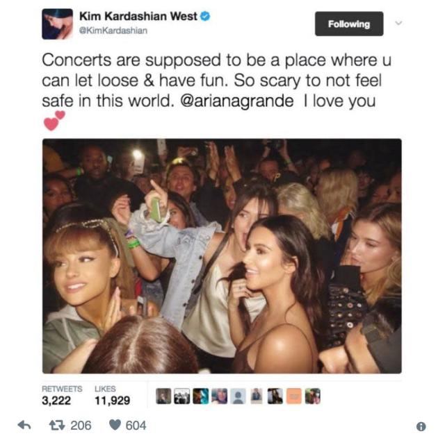 "<p>The Queen of Social Media has had a few Twitter missteps this year. Kim Kardashian took heat for an insensitive tweet following the Manchester attack at Ariana Grande's concert. Like many, Kim sent her love to Grande, but the way she did it rubbed people the wrong way. <span>""Concerts are supposed to be a place where u [sic] can let loose & have fun. So scary not to feel safe in this world. @arianagrande I love you,"" Kim said. The problem? She posted a photo of herself (front and center) with Ariana from one of Kanye's concert. Kim deleted the tweet and picture and then tweeted,</span><span> ""I'm praying for everyone in Manchester. This is truly so senseless & heart breaking.</span>""(Photo: Kim Kardashian/Twitter) </p>"