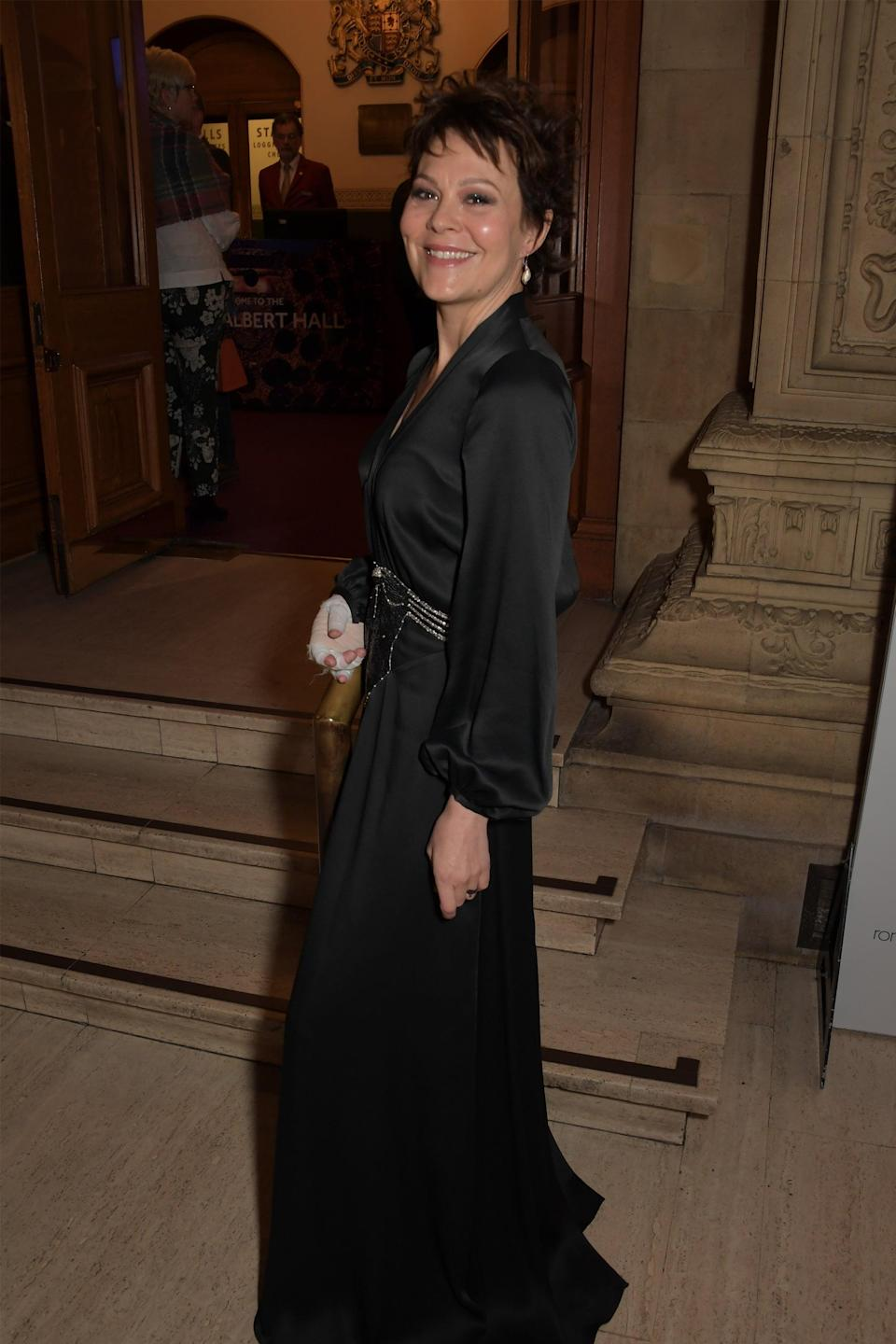 """<strong><h2>Helen McCrory Is The Voice Of Stelmaria</h2></strong> <br> <strong>Who Is Stelmaria?<br></strong>Lord Asriel's dæmon, a snow leopard, who is strong and intelligent. She has a hold over Roger Parslow's own dæmon. <br> <br>McCroy is a stage, screen, and television actress who is married to fellow actor Damian Lewis. You might recognize her from <em>Harry Potter and the Deathly Hallows</em> where she played Narcissa Malfoy, or <em>Peaky Blinders</em> where she plays Polly. <br> <br> <span class=""""copyright"""">Photo: David M. Benett/Getty Images.</span>"""