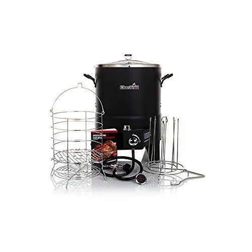 """<p><strong>Char-Broil</strong></p><p>williams-sonoma.com</p><p><strong>$119.95</strong></p><p><a href=""""https://go.redirectingat.com?id=74968X1596630&url=https%3A%2F%2Fwww.williams-sonoma.com%2Fproducts%2Fchar-broil-the-big-easy-oil-less-turkey-fryer%2F&sref=https%3A%2F%2Fwww.goodhousekeeping.com%2Fappliances%2Fg28790655%2Fbest-turkey-fryer%2F"""" rel=""""nofollow noopener"""" target=""""_blank"""" data-ylk=""""slk:Shop Now"""" class=""""link rapid-noclick-resp"""">Shop Now</a></p><p>Unlike deep fryers that use large vats of oil, the Char-Boril Tru-Infrared Oilless Turkey fryer <strong>uses infrared cooking technology to crisp up your bird.</strong> That means you don't need to worry about splattering or potential spilling and burns. It can handle up to a 16-pound turkey and can also be used for other large pieces of meat like chicken or beef roasts. </p>"""