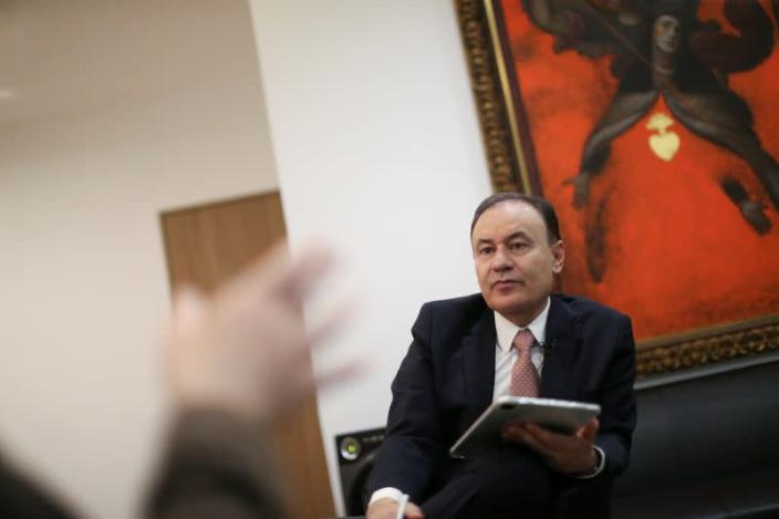 Alfonso Durazo, former security minister and candidate for governor in Sonora, is pictured during an interview with Reuters in Mexico City