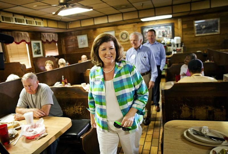 Ms Handel is fighting to hold on to a seat Republicans have occupied since 1979 (AP)