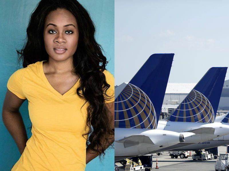 """Cacilie Hughes, left, an actress and philanthropist, was allegedly called a """"monkey"""" by United Airlines worker Carmella Davano."""