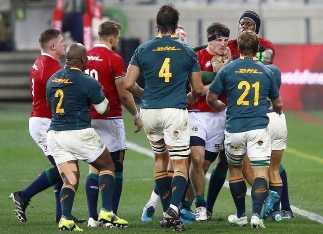 The Lions and South Africa fought out a stormy second Test