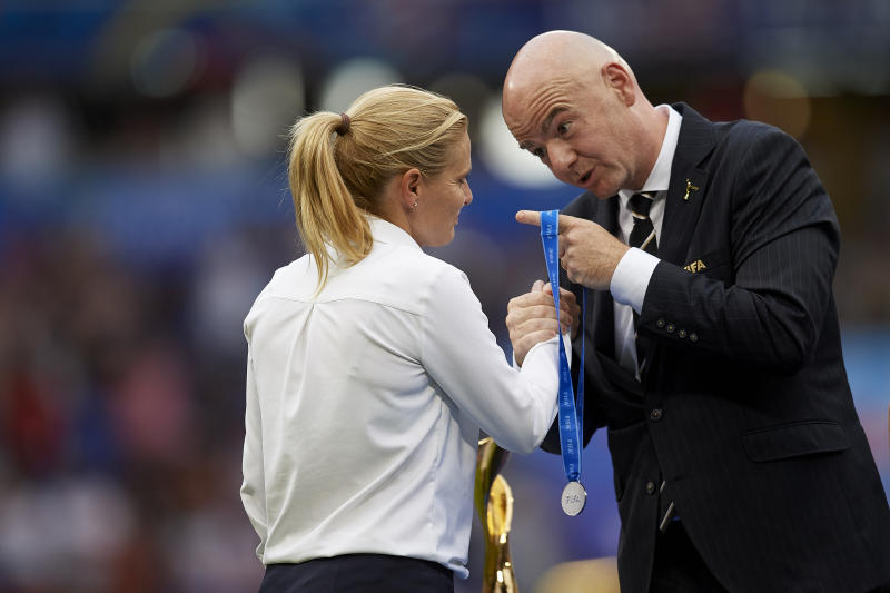 Should the USWNT have just sued FIFA? Maybe. (Photo by Jose Breton/NurPhoto via Getty Images)