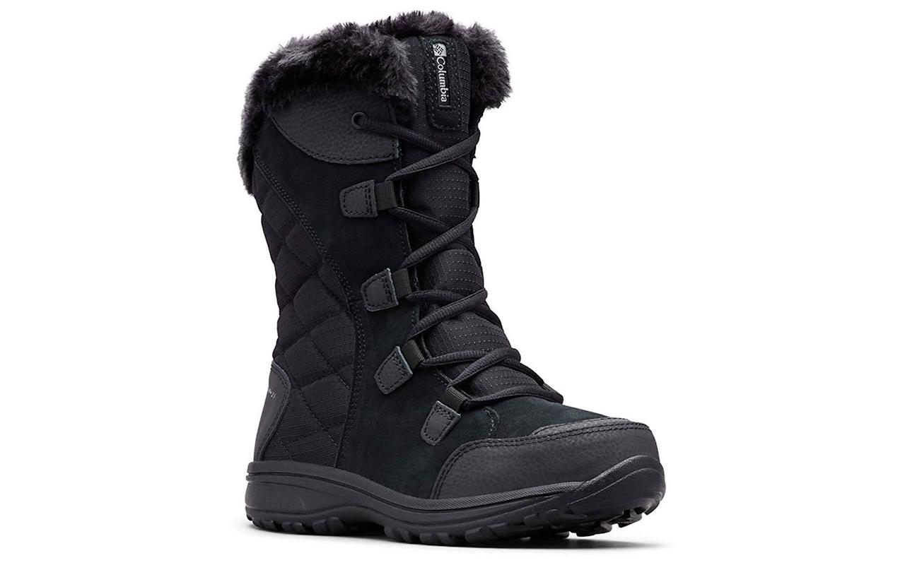 """<p>With a lightweight construction and insulation made for extremely frigid temperatures (up to -25 Fahrenheit/-32 Celsius), it's no wonder these Columbia boots have more than 3,800 five-star reviews. The cozy boots feature a cushioned insole for added comfort and an Omni-Grip rubber sole that provides superior traction in slippery conditions. """"I never write reviews but they are the most comfortable boots I have ever worn,"""" said one shopper. """"They are just as comfortable as sneakers! Wearing them inside, my feet don't get too hot but stay warm out in the cold. They are great quality and so cute too. Can't wait for the snow now!""""</p> <p>To buy: <a href=""""https://www.amazon.com/Columbia-Womens-Maiden-Snow-Black/dp/B00GW97XQM/ref=as_li_ss_tl?ie=UTF8&linkCode=ll1&tag=tlbestsnowbootsrcarhart0919-20&linkId=6ddeaeea5230ea272164d3c053c48f66&language=en_US"""" target=""""_blank"""">amazon.com</a>, from $37</p>"""