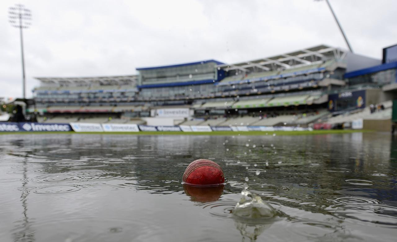 BIRMINGHAM, ENGLAND - JUNE 08:  Rain delays the start of day two of the third 3rd Investec Test match between England and the West Indies at Edgbaston on June 8, 2012 in Birmingham, England.  (Photo by Gareth Copley/Getty Images)