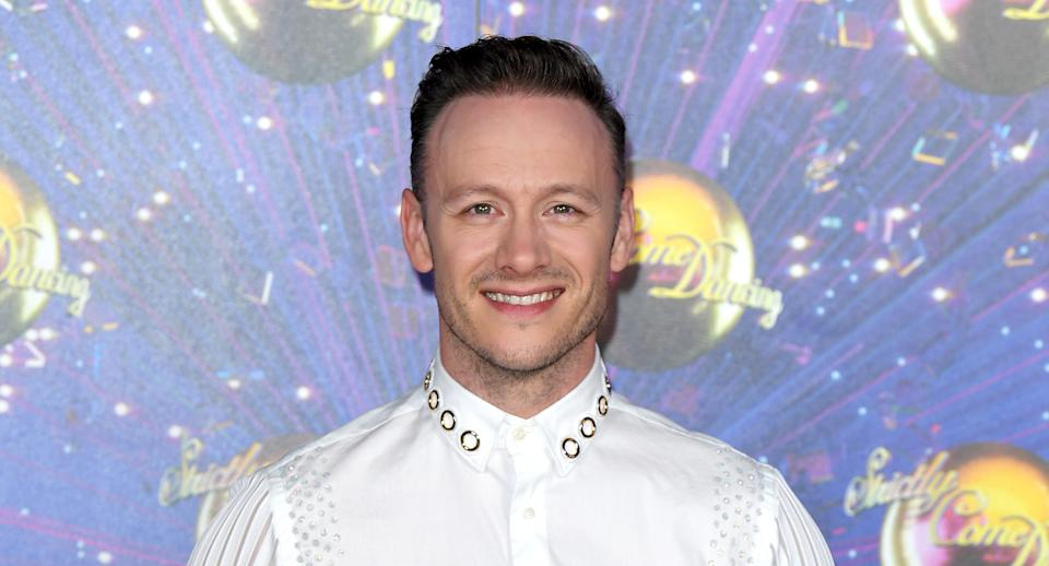 """Kevin Clifton attends the """"Strictly Come Dancing"""" launch show red carpet arrivals at Television Centre on August 26, 2019 in London, England. (Photo by Karwai Tang/WireImage)"""