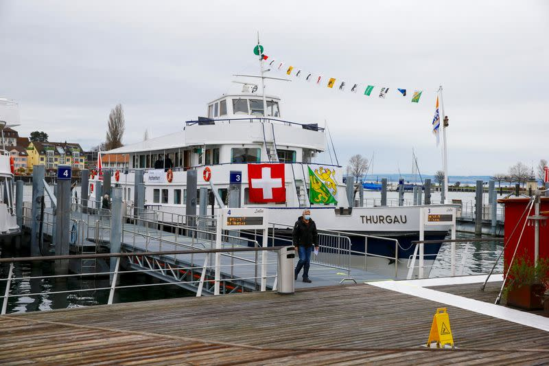 Vaccination center against COVID-19 aboard MS Thurgau in Romanshorn