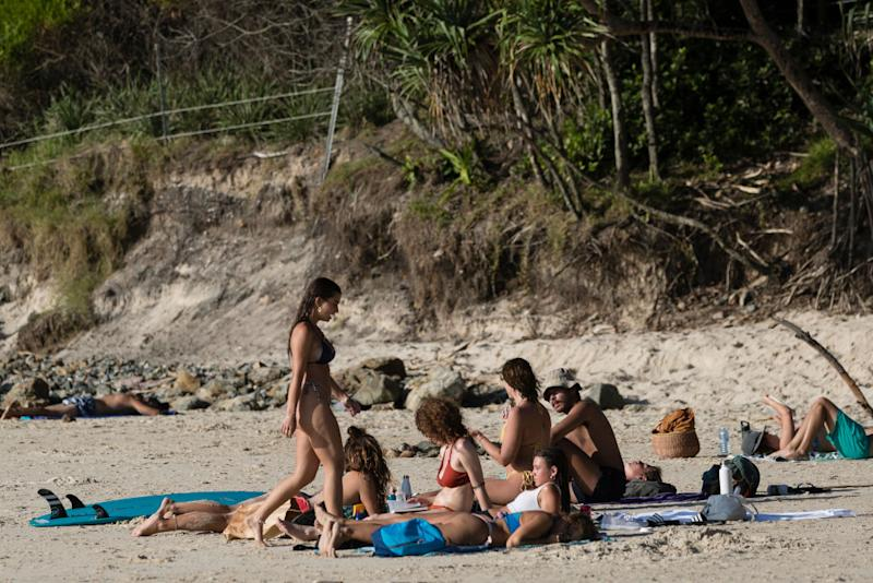 Areas such as Byron Bay, which are so reliant on tourism, can welcome visitors from the start of June. Source: Getty