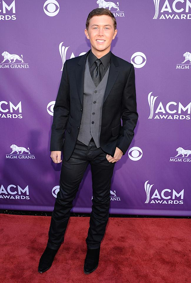 "<p class=""MsoNormal"">""American Idol"" champ Scotty McCreery looked ready for his first Academy of Country Music Awards show. He's a walking advertisement for the power of reality TV. A year ago no one had any idea who he was. Today he's up for New Artist of the Year! </p>"