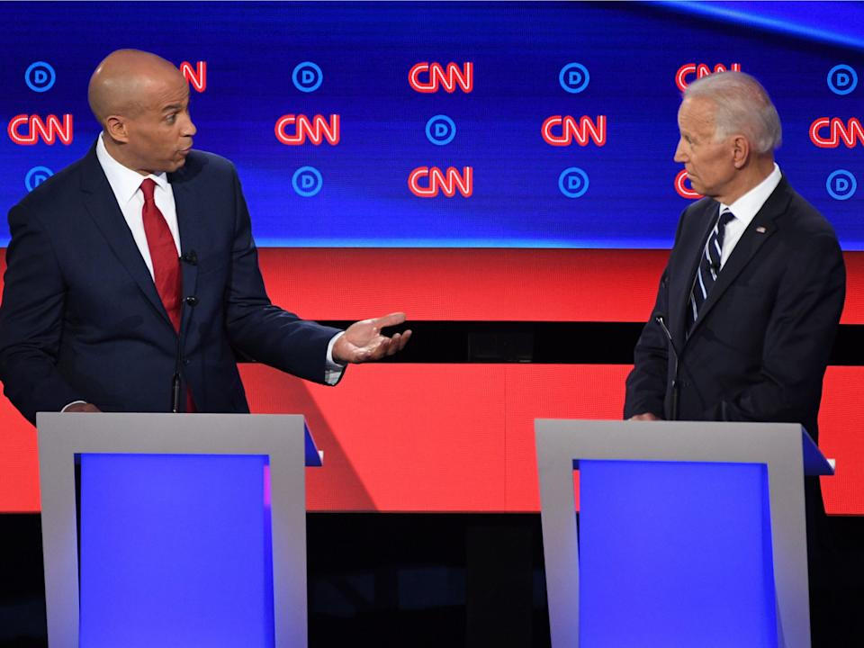 Cory Booker and Joe Biden
