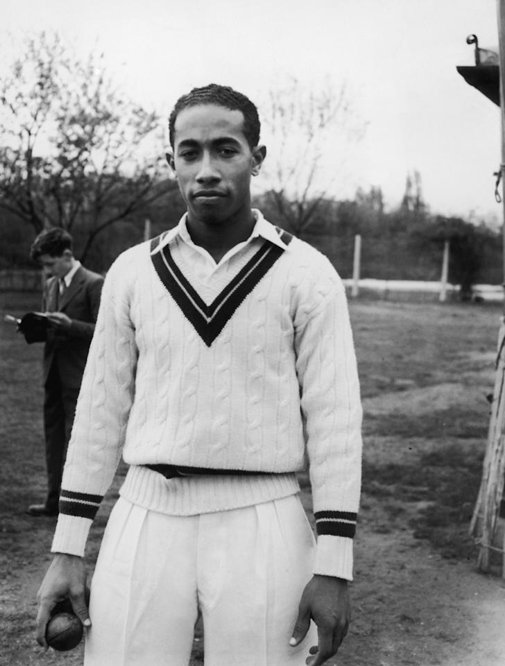 West Indian cricketer Alfred Louis Valentine (1930 - 2004), 1950. (Photo by Topical Press Agency/Hulton Archive/Getty Images)