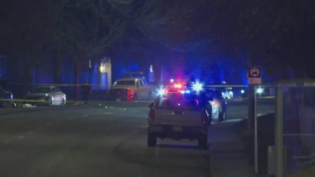 Jesse Shaye Troy George died Saturday at the scene of the shooting near Memorial Drive and 52nd Street S.E. despite the efforts of first responders, police said. (Terri Trembath/CBC - image credit)