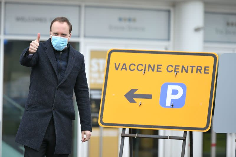 FILE PHOTO: COVID-19 vaccinations in Epsom