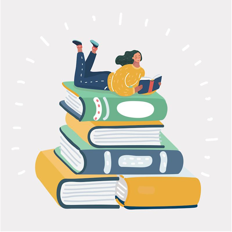 Just six minutes of sustained reading each day can reduce a person's stress level by 68 percent, according to a 2009 University of Sussex study. (Photo illustration: Getty Creative)