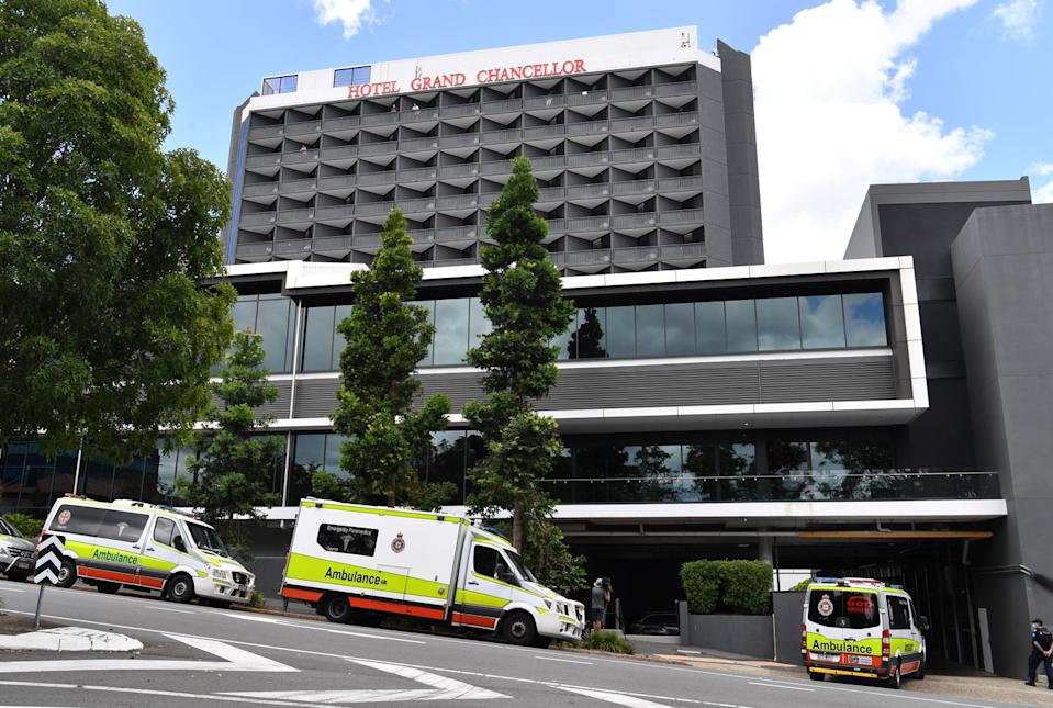 Health authorities in NSW and Victoria are asking anyone who was at the Hotel Grand Chancellor on or after December 30 to get tested for Covid and quarantine for 14 days. Source: AAP