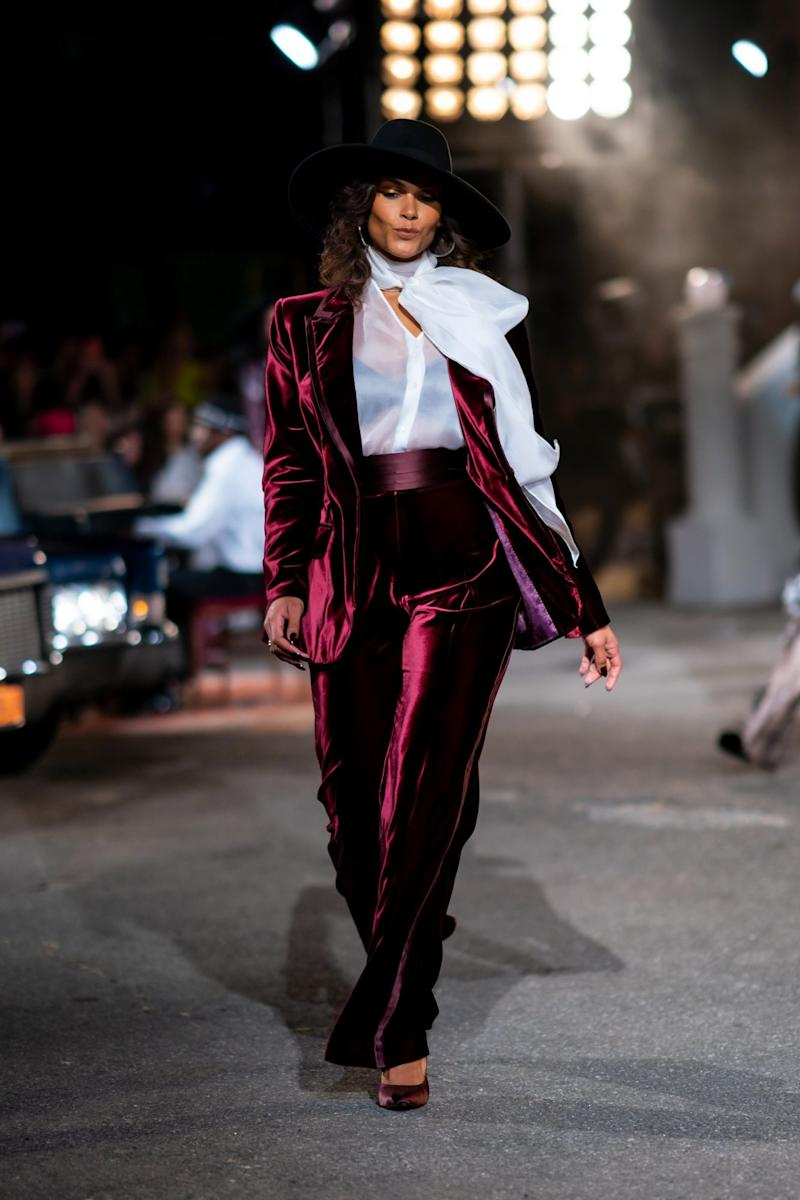 <p>Marquita Pring walks the runway during the Tommy Hilfiger x Zendaya show. Photo by Gotham/WireImage.</p>