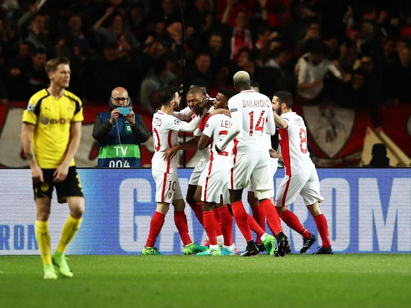 Monaco beat Dortmund to get to the final four (Getty)