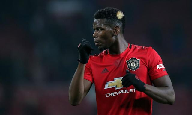 <span>Paul Pogba's injury involves 'some bone fragments – it will keep him out for a while', says Solskjær.</span> <span>Photograph: Magi Haroun/REX/Shutterstock</span>