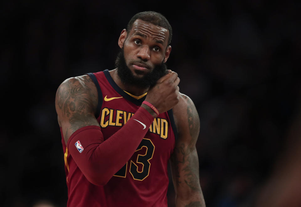 LeBron James was handed his first Round 1 loss since 2012 to the Pacers. (AP Photo)