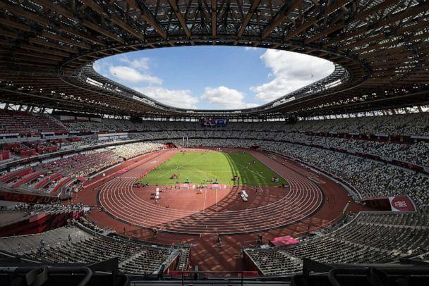 PHOTO: Rows of empty seats are seen in the Olympic Stadium as the Athletics continues on day 12 of the Tokyo Olympic Games on August 4, 2021 in Tokyo, Japan. (Leon Neal/Getty Images)