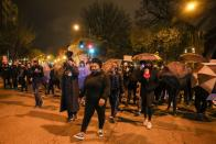 People protest following the fatal police shooting of 20-year-old Black man Daunte Wright in Minnesota , in Washington