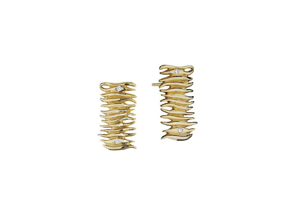 "<p><strong>Yoki</strong></p><p>yokicollections.com</p><p><strong>$3371.00</strong></p><p><a href=""https://www.yokicollections.com/product-page/diamond-18k-yellow-gold-stud-earrings-1"" rel=""nofollow noopener"" target=""_blank"" data-ylk=""slk:Shop Now"" class=""link rapid-noclick-resp"">Shop Now</a></p><p>In flames.</p>"